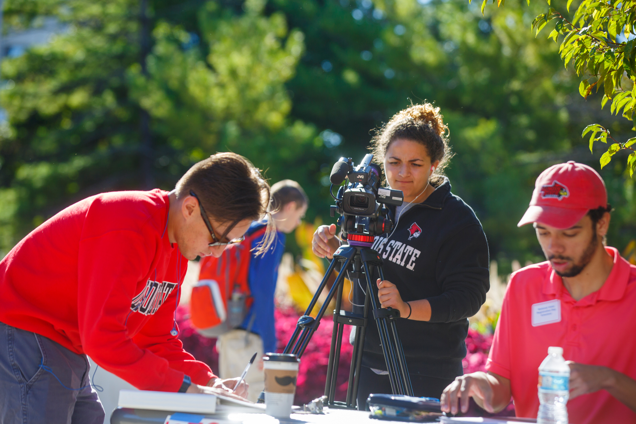 Illinois State student films with an industry-grade camera