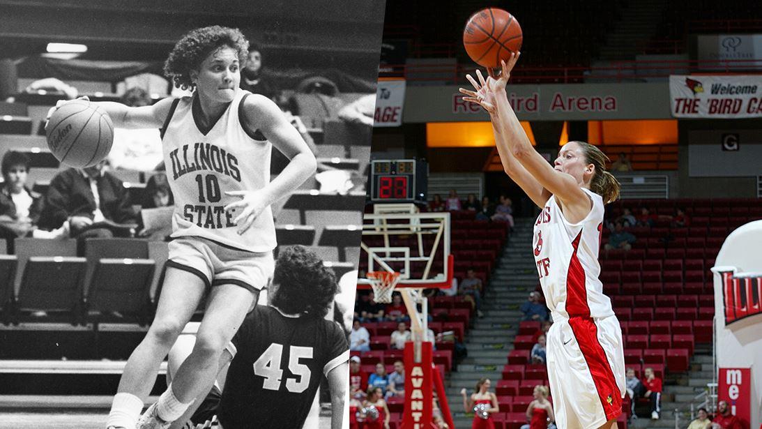 Redbird women's basketball players