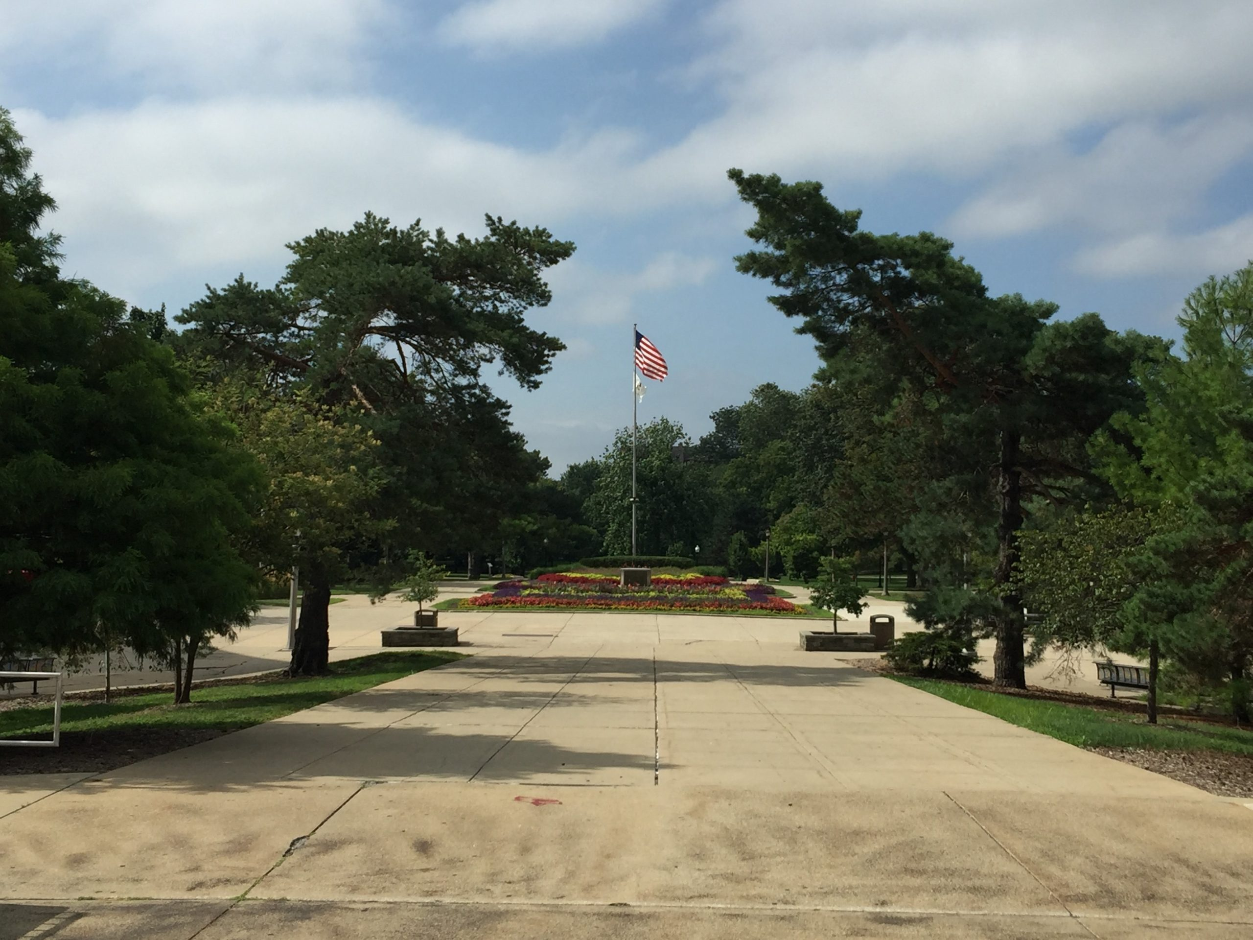 South view of the quad