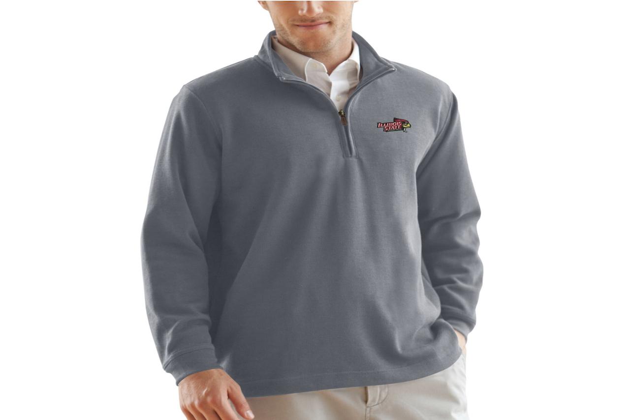 Grey Men's Quarter-zip Pullover