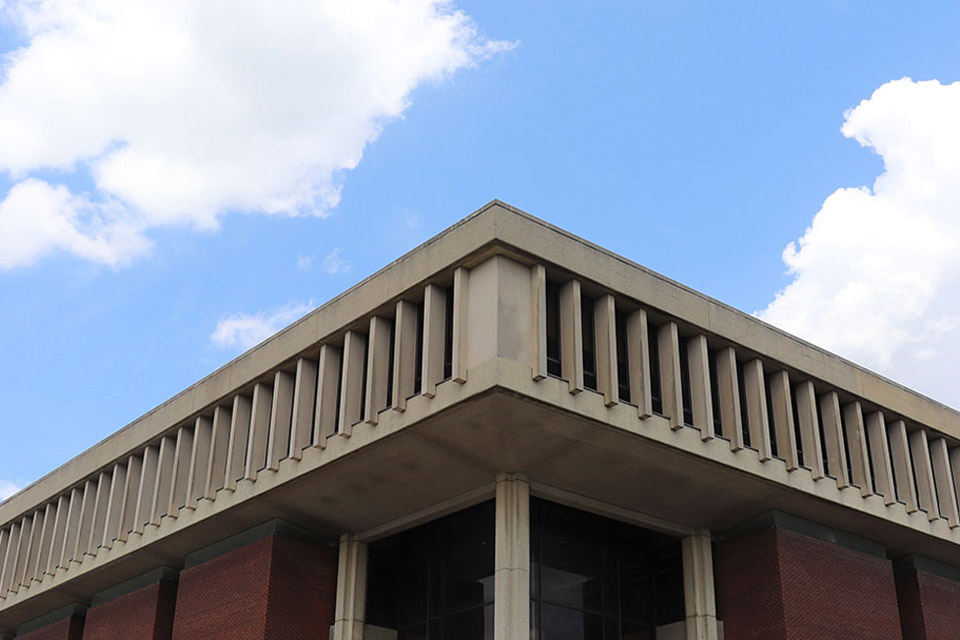 photo of top of Milner Library