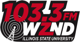 103.3 FM WZND Illinois State University logo