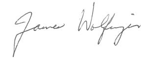 James Wolfinger signature