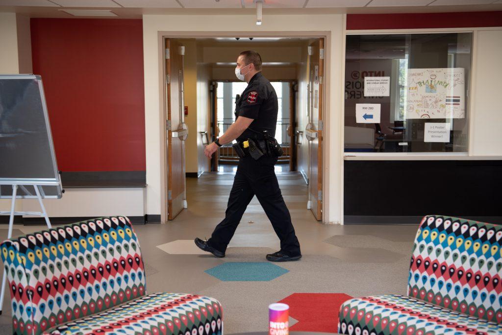 Police officer walking