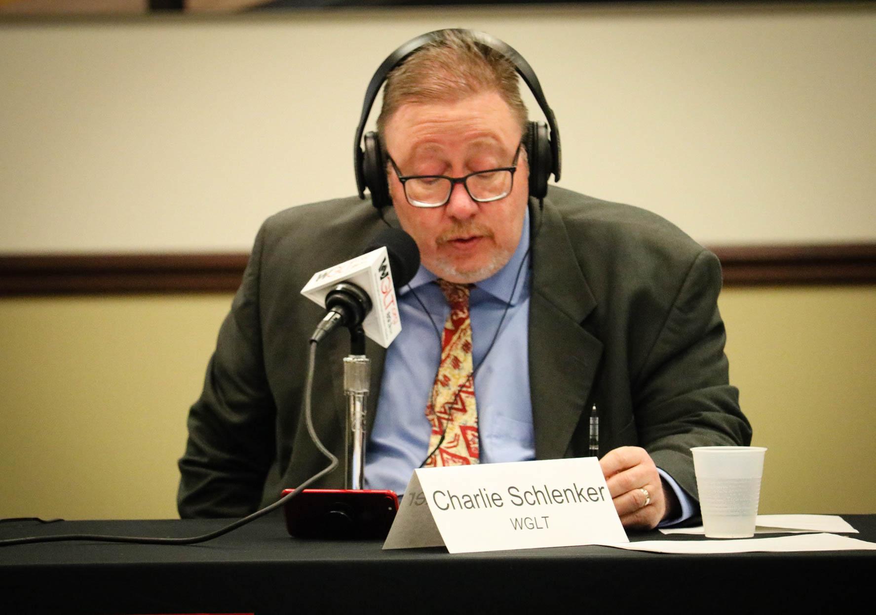 WGLT news director Charlie Schlenker