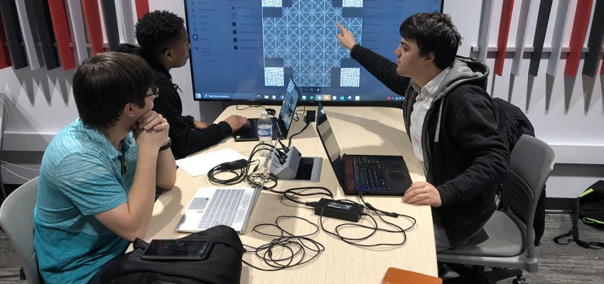 Illinois State students work on their video game