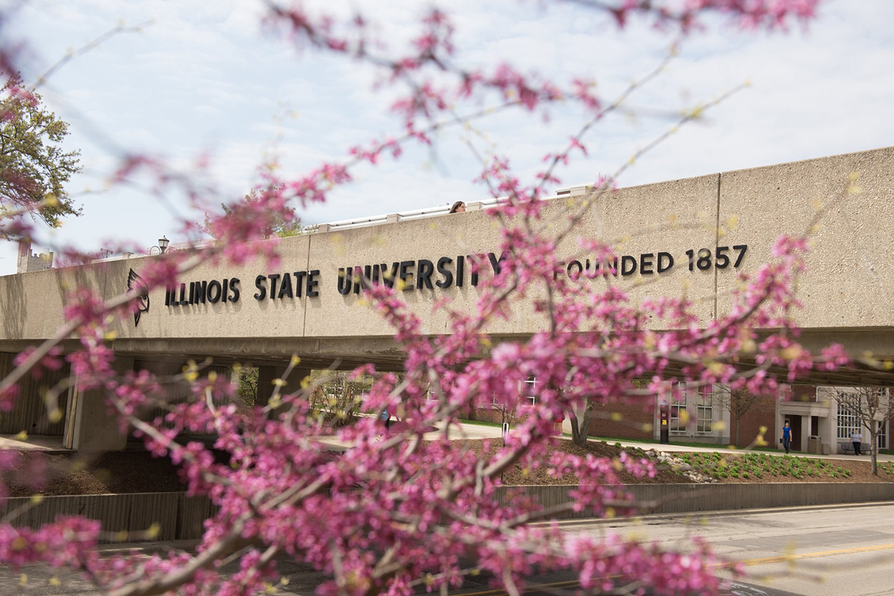 ISU overpass in the spring