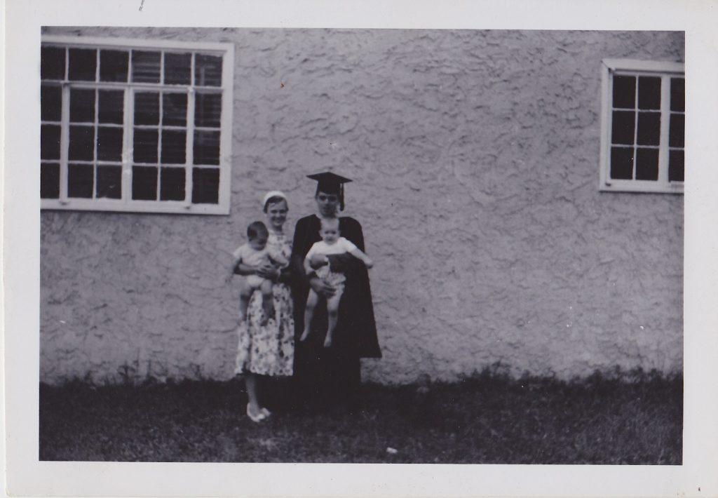 Maske family before graduation