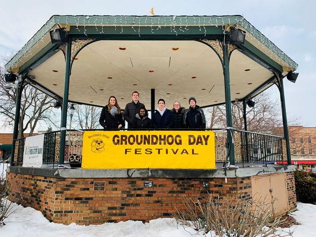 Student team supporting the Woodstock Groundhog Days Committee