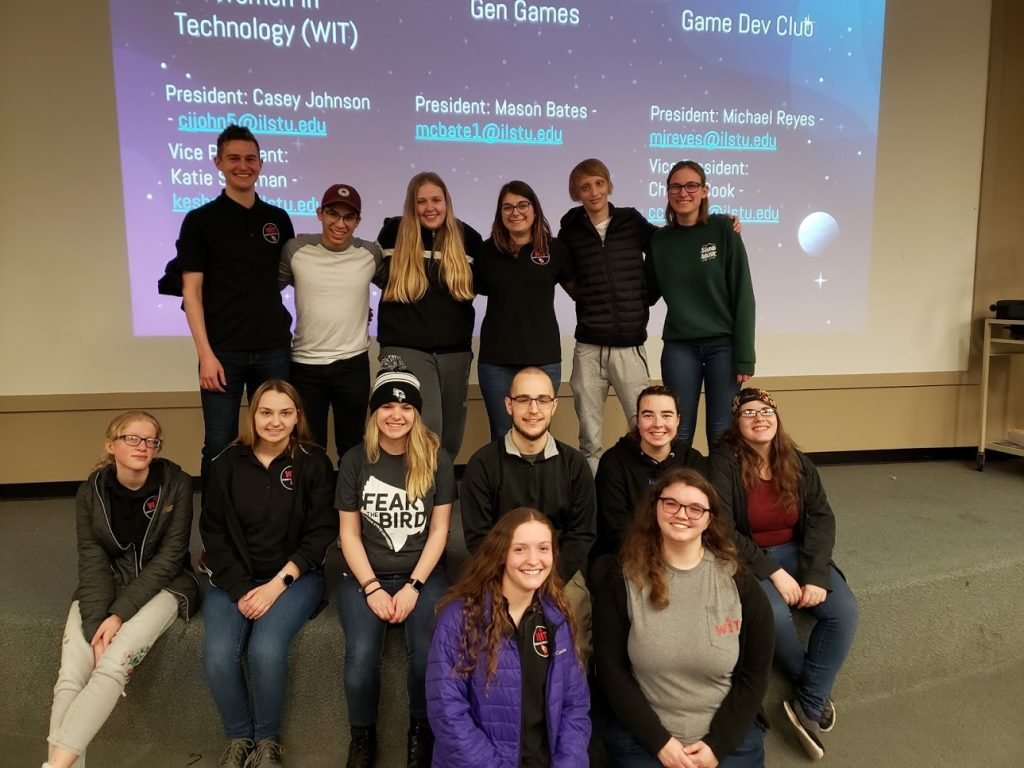 A group photo from a Women in Technology meeting