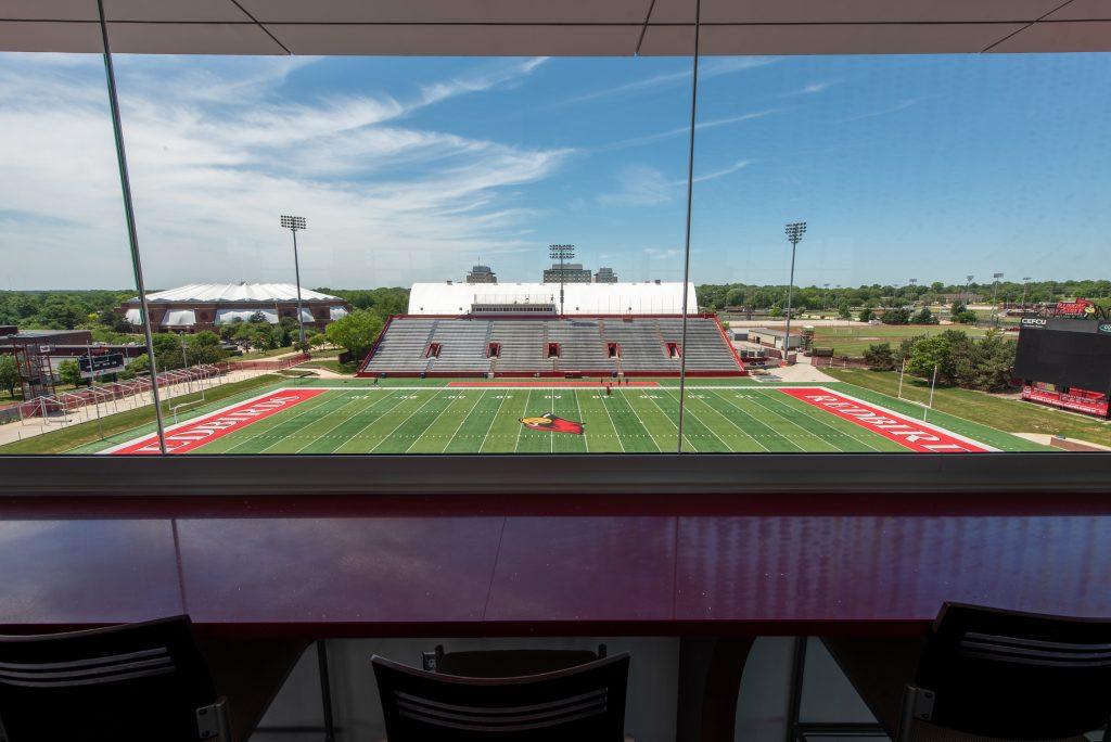 Hancock Stadium club, field view
