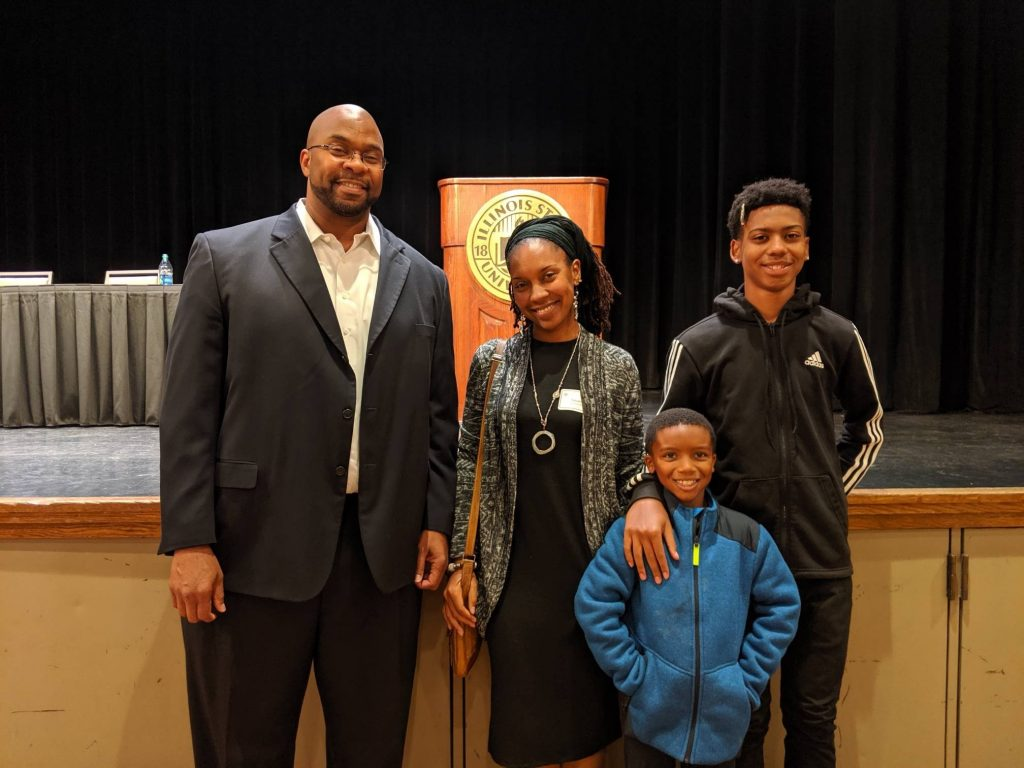 Chris Marks and Washington family