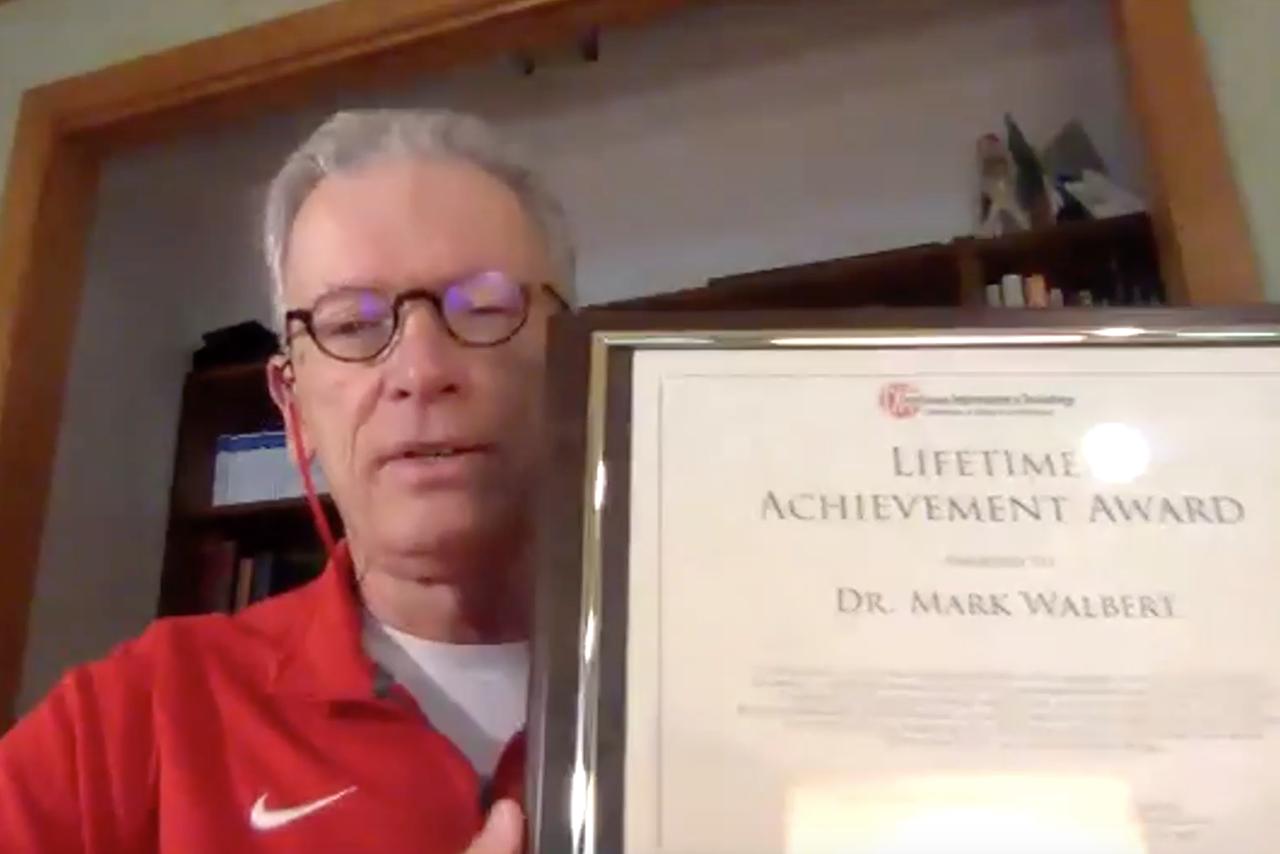 Mark Walbert with Lifetime Achievement award