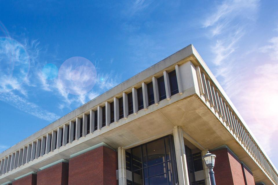 corner of milner library building