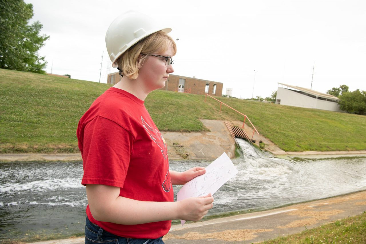 Anastasia Ervin at the Bloomington-Normal Water Reclamation District