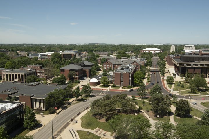 Illinois State University campus from above