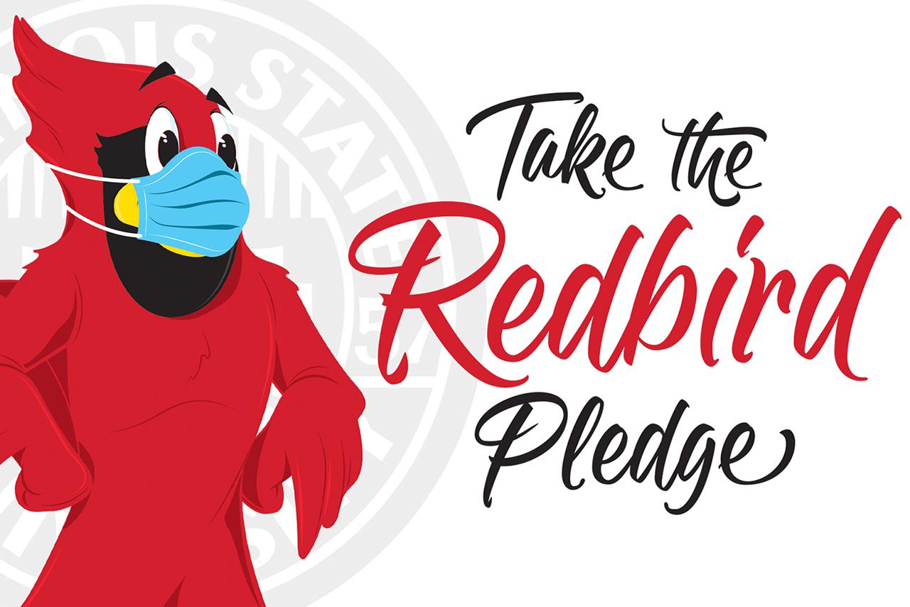 Take the Redbird Pledge with image of Reggie Redbird