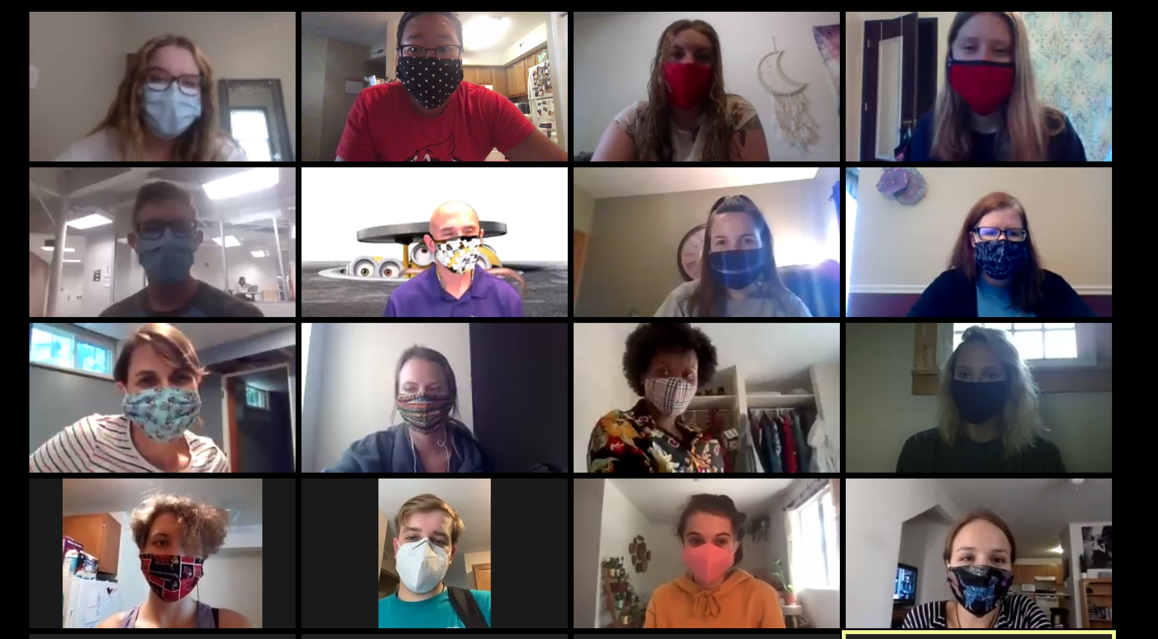 Wellness ambassadors communicating via Zoom