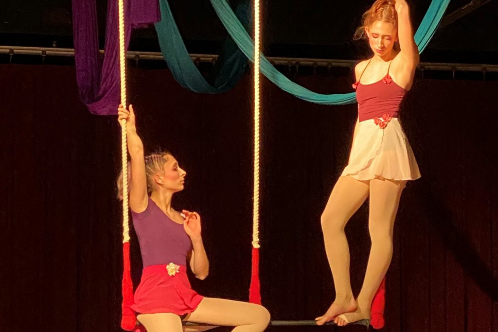 The Baker twins performing with Chicago's CircEsteem.