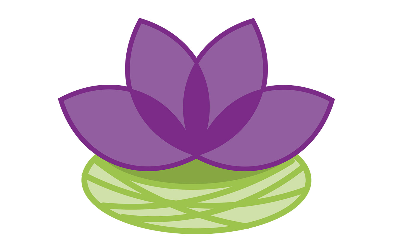 Growth Change Team logo with flower over lilypad