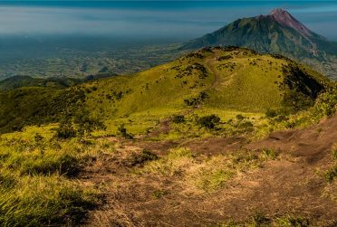 View of Mount Merbabu in Indonesia.