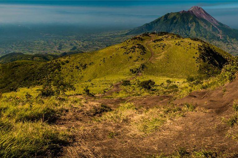 View of Mount Merbabu in Indonesia.
