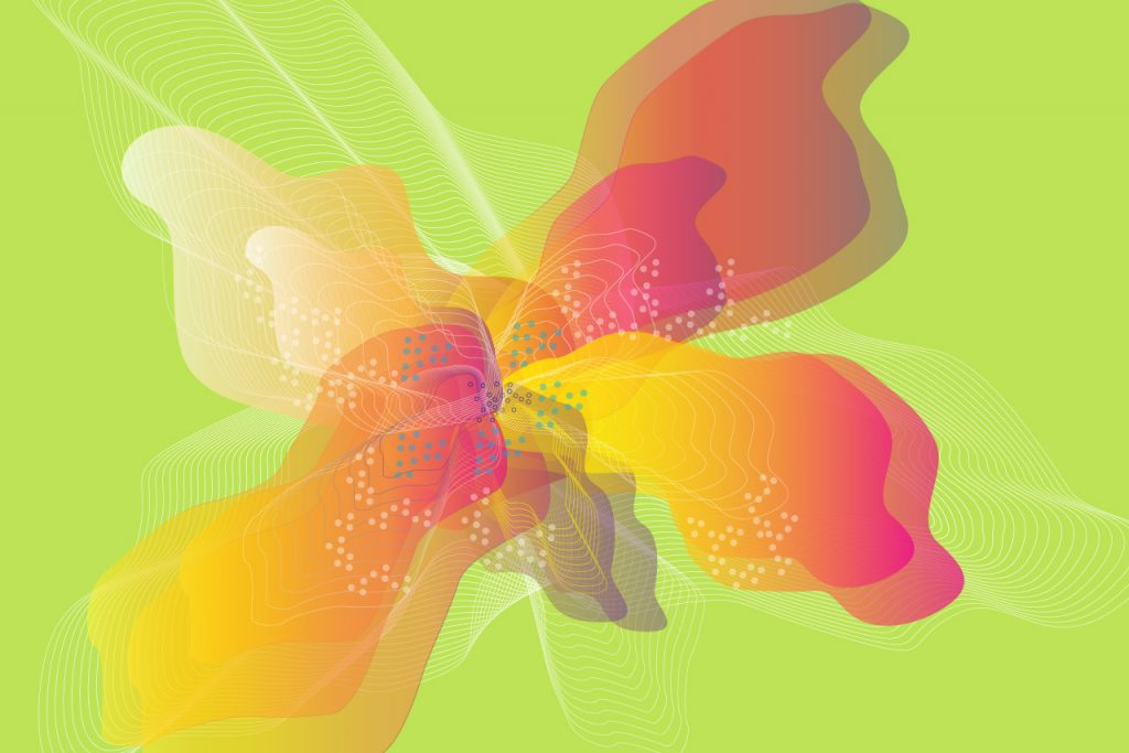 artist image of a flower by Design Streak