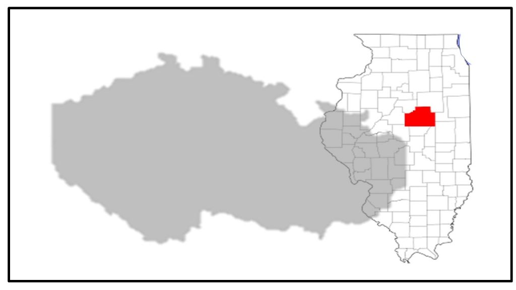maps of Czech Republic and Illinois