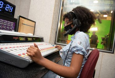 Student in studio.