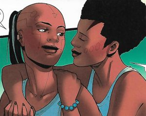 Panel from World of Wakanda with Ayo and Aneka
