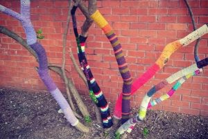 Yarn on a tree