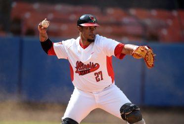 Man throwing baseball