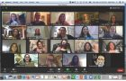A Zoom meeting for the Women's History Club.