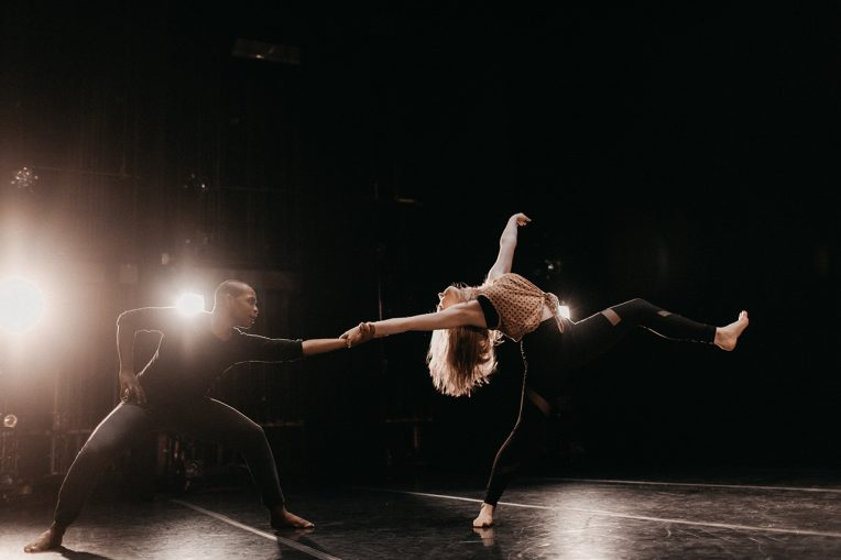 Two dancers in a movement
