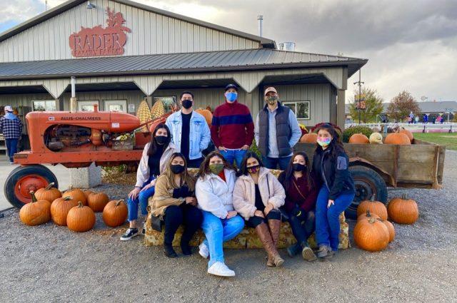 The ALAS executive board vising Rader Family Farms in Normal.