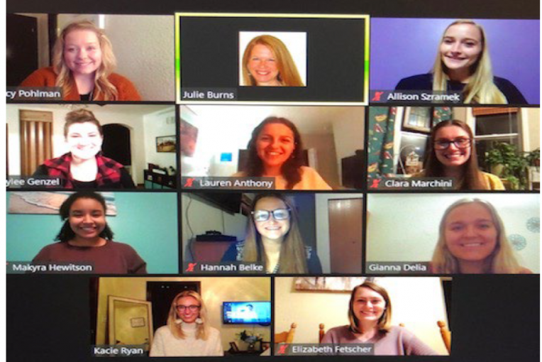 image of CSD scholarship recipients in a Zoom screen image
