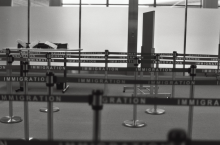 Airport immigration area