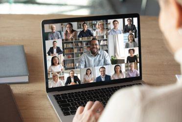 photo of a virtual career fair on a desktop