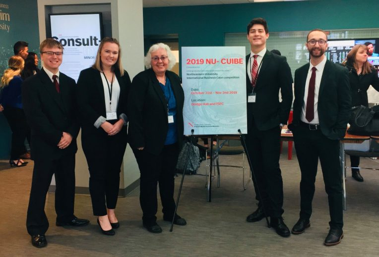 IB Students at Case Competition in 2019