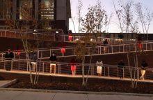 ISU Forensics Team stands outside Bone Student Center.