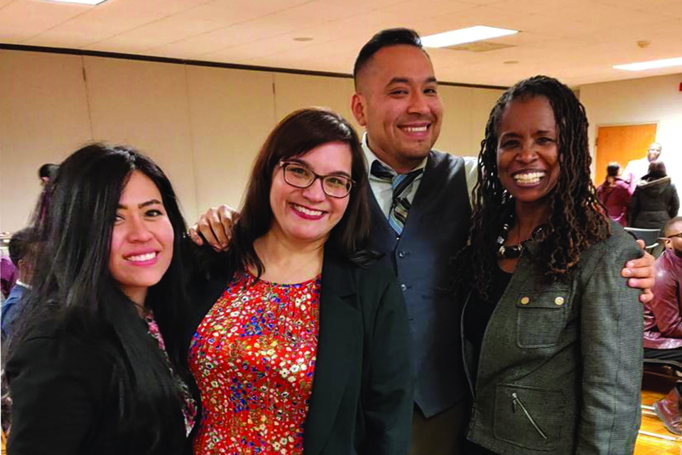 EAF students at the Diversifying Faculty in Higher Education in Illinois (DFI) Conference in the summer of 2019.
