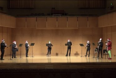 Student ensemble cast performing.