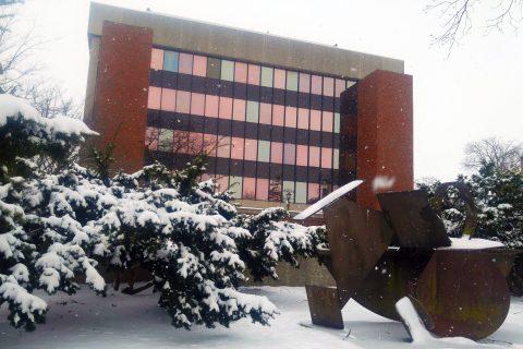 DeGarmo Hall in winter