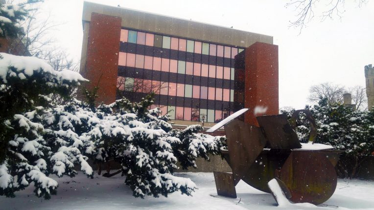DeGarmo Hall in winter