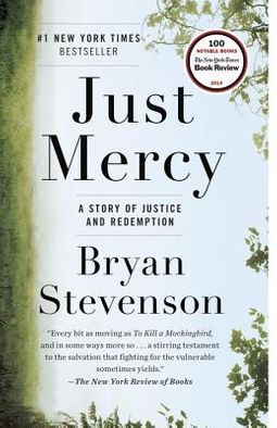 """cover of the book """"Just Mercy"""" by Bryan Stevenson"""