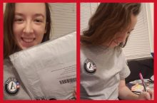 Shaw in AmeriCorps t-shirt