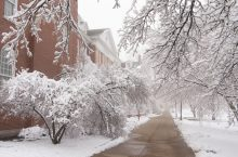 The Quad after snowfall