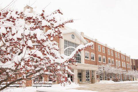 Schroeder Hall in winter