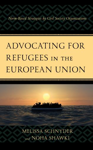 book cover with refugees on a boat