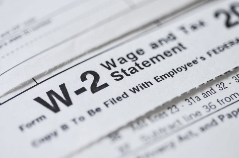 W-2 form Wages and Tax Statement